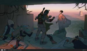 ILM Art Department Challenge: The Moment - Yavin by MattRhodesArt