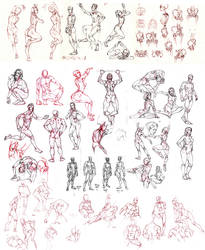Novemeber Figure Studies by MattRhodesArt