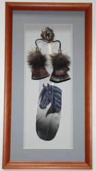 Black Freisian Horse feather by featherlady
