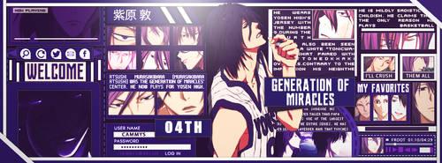 ::O3112O18:: Iggy Style - Murasakibara Atsushi by MuraxHimu