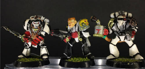 Librarian, Brother Leach and Tech Marine by TH3-CRY1N6-SP4C3-0RK