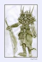 Warrior Skull by cuatrod