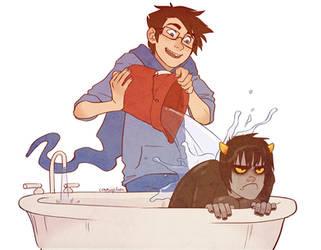 Kat Bath by conniiption