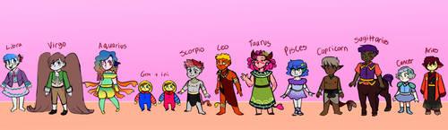 ZODIAC - Children Line Up by egardanier