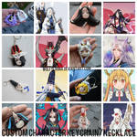 CUSTOM CHARACTER KEYCHAIN/NECKLACE (points/paypal) by wolfyLRiina