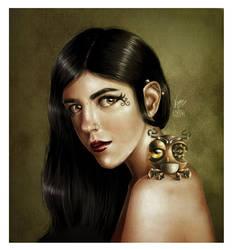 Selfportrait by karenia24