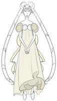 FA:: Sailor Gems - Princess White Diamond Serenity by drazzi