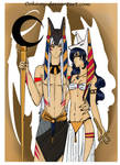 Sesskag- Anubis and his wife Anput by Ookamy