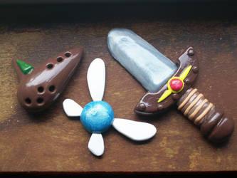 Legend of Zelda Kokiri magnets by Meruginator