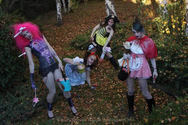 Halloween Zombies by RavenLeFaye