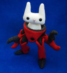 Kitty robot suit by vickangaroo
