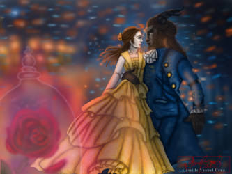 As old as time a Beauty and the Beast fan art by Cayru