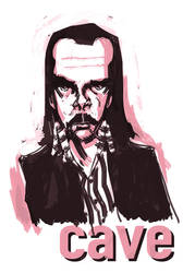 Pink Nick Cave by johnshine