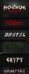 6 Horror Styles by PixelladyArt