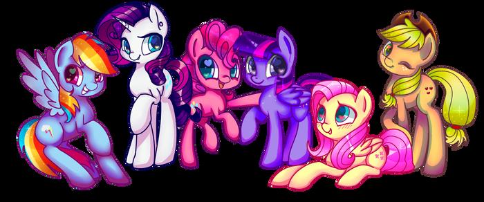 My Little Ponies by LeLittleLuna