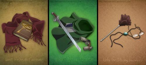 SNK Triptych by elisadevelon