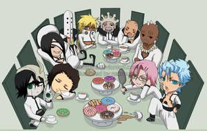 BLEACH -CHIBI espada tea party by Jennaris