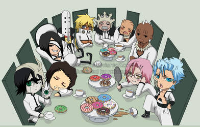 BLEACH -CHIBI espada tea party by Jennaris