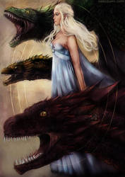 GoT - Mother of dragons by Jennaris