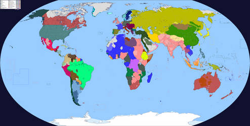 World Map 1914 (Colored+Improved) by Sharklord1