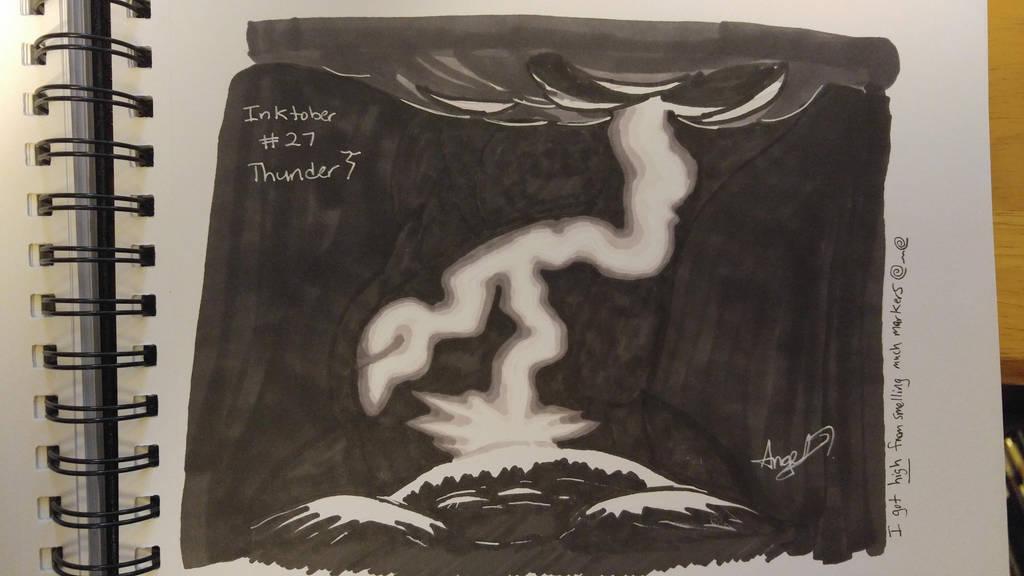 Inktober # 27 - Thunder by Cross-Kaiser