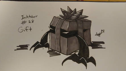 Inktober # 28 - Gift by Cross-Kaiser
