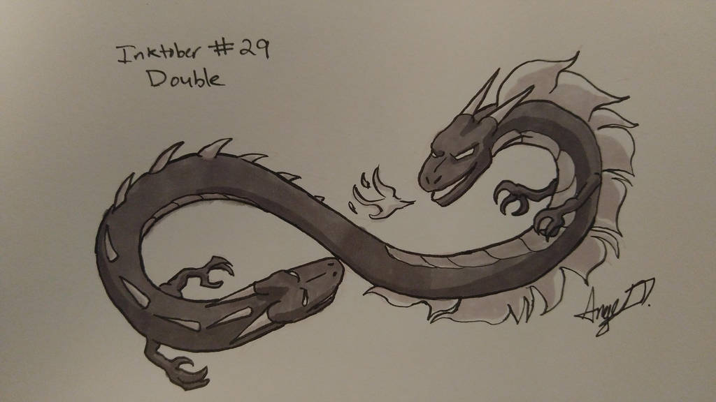 Inktober # 29 - Double by Cross-Kaiser