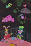 Alice In Wonderland: Tea, Birds and Chesh by MoonyMina