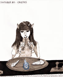 Inktober #21 - Crystals by MoonyMina
