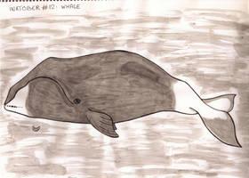 Inktober #12 - Whale by MoonyMina