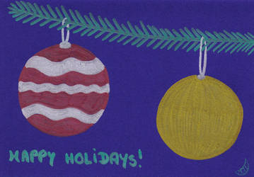 Baubles - Holiday Card Project by MoonyMina