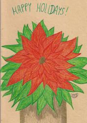 Poinsettia - Holiday card Project by MoonyMina