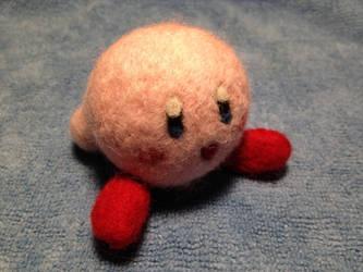 Kirby - Needle Felted by MrBarthalamul