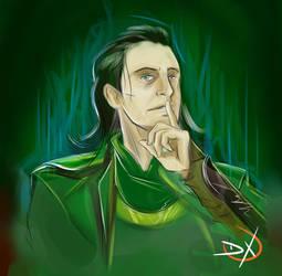 speed drawing Loki - tom hiddleston by Soliduskim