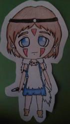Chibi Princess Mononoke by Cinnaminty-Ashes