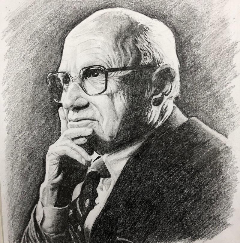 Milton Friedman @alangoretattoo by Fgore