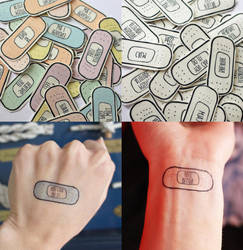 bandaid tattoos by brandnew