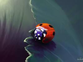 Melancholic Ladybug on iPad by nuevemonos
