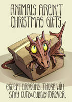 Animals aren't Christmas gifts by greyfin