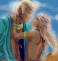 Yushua and Nen by Y-n-Y