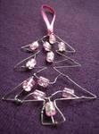 Pink Tree Christmas decoration by SneddoniaDesigns