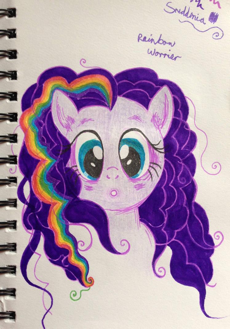 Rainbow Worrier by SneddoniaDesigns