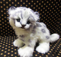 ETSY Commission snow leopard kitten by MalinaToys
