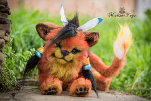 Poseable toy Commission Xiii Red by MalinaToys