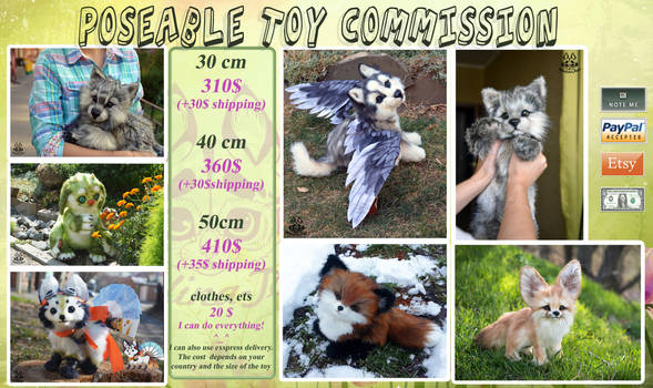 Poseable toy Commissions ARE OPEN by MalinaToys