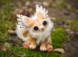Handmade poseable Winged fox by MalinaToys