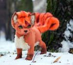 Poseable toy Commission Vulpix by MalinaToys