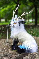 Poseable toy commission Fantasy Wolf by MalinaToys
