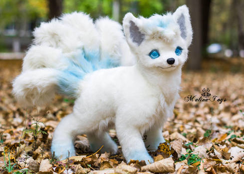 Poseable toy commission Alola Vulpix by MalinaToys