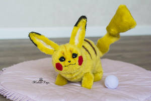 Poseable toy commission Pikachu by MalinaToys